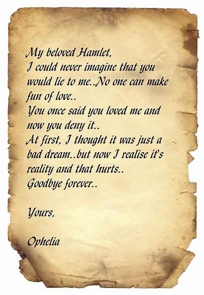 Hamlet Letters Letter Poems Experience