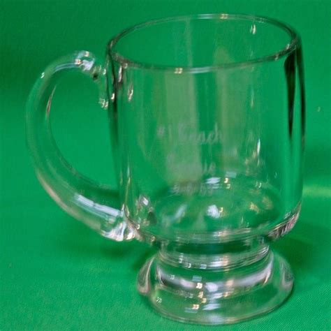 Check out our tall coffee mugs selection for the very best in unique or custom, handmade pieces from our mugs shops. Large Heavy Inscribed Glass Coffee Mug With Pedestal Base And Handle | Glass coffee mugs, Mugs ...