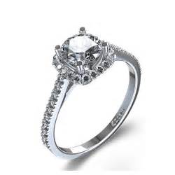 14k white gold engagement rings halo style cushion cut engagement ring in 14k white gold