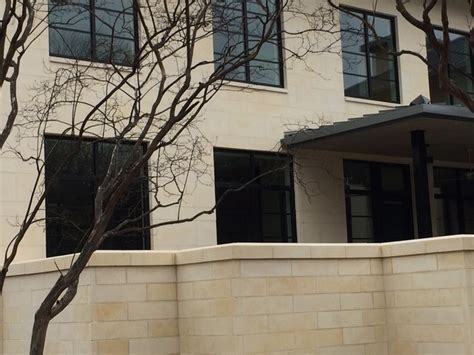 Smooth Cut Stone   Modern   Exterior   dallas   by Clay
