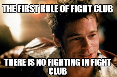 Fight Club Memes - meme creator brad pitt fight club 05 jpg meme generator at memecreator org
