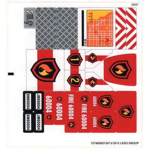 Lego White Sticker Sheet For Set 60004 (12748)  Brick Owl