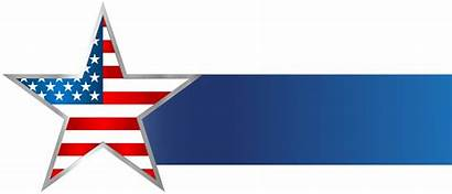 Banner Clip Usa Clipart Memorial States United