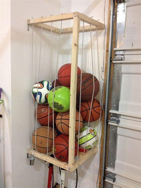 garage sports storage diy garage sports equipment storage