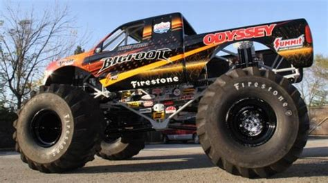 bigfoot electric monster truck bigfoot 20 monster truck rolls over cars using an all
