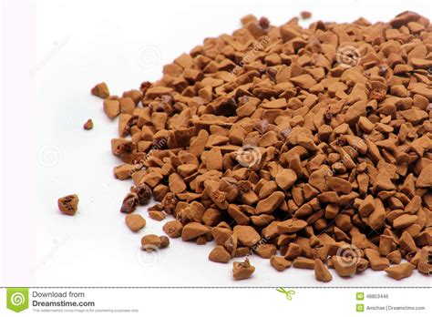 Instant Coffee Granules Stock Photo   Image: 48853446