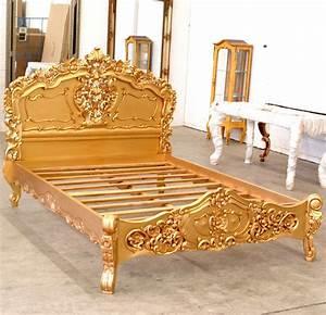 Queensize Bett Oder Doppelbett : goldenes rokoko bett queen size k niglich betten massiv doppelbett ~ Bigdaddyawards.com Haus und Dekorationen