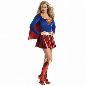 Popular Adult Supergirl Costume-Buy Cheap Adult Supergirl ...