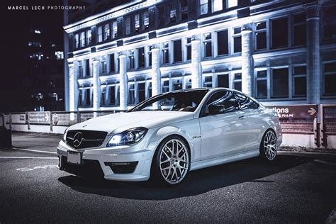 c63 amg w204 mercedes w204 c63 amg coupe on hre performance rims