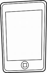 Phone Cell Clipart Clip Mobile Cliparting sketch template