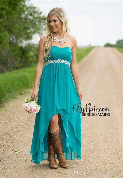 modest teal turquoise bridesmaid dresses  cheap high
