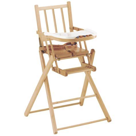 chaise haute bébé en bois chaise pliante de combelle chaises hautes fixes