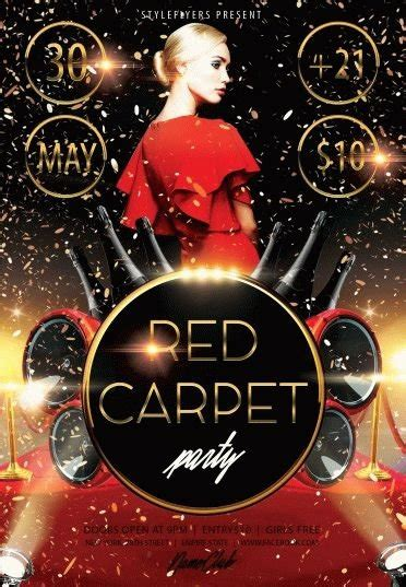 Red Carpet Party Psd Flyer Template #8195 Styleflyers