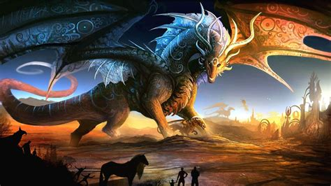 fantasy dragon wallpaper  movies monodomo
