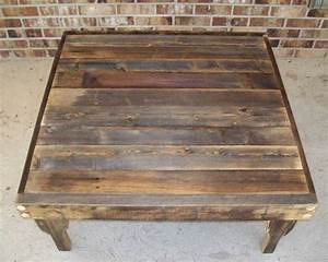natural finish square reclaimed wood coffee table with With natural wood square coffee table