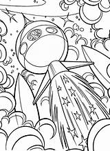 Coloring Space Pages Outer Ship Sheets Adult Easy Drawing Colouring Spaceship Printable Drawings Alien Books Bestcoloringpagesforkids Cool Crafts Line Cartoon sketch template