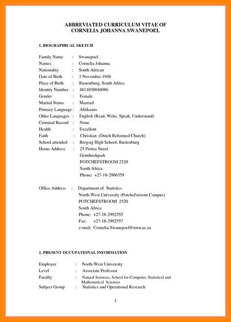 Format For Writing Cv by Modern Format Of Writing Cv Fius Tk