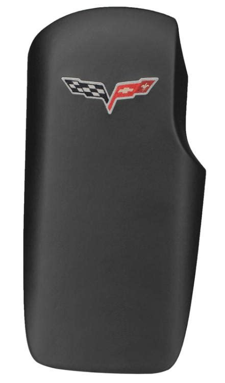 corvette   leather embroidered console lids