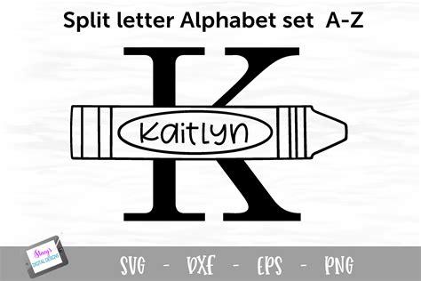 split letters    split monogram svg  crayons  monograms design bundles