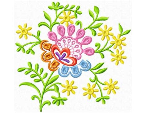 decorative flower and leaf designs decorative flower free embroidery design
