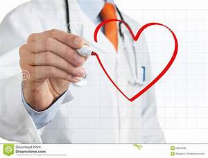 Doctor Drawing Heart Symbol Royalty Free Stock Images ...
