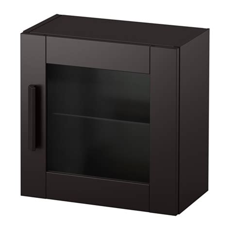 glass door wall cabinet brimnes wall cabinet with glass door black ikea