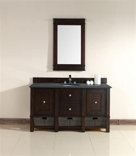 60 inch vanity cabinet single sink 60 inch single sink bathroom vanity in burnished mahogany