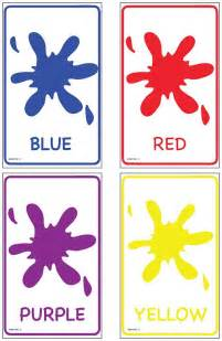 Preschool Color Flash Cards