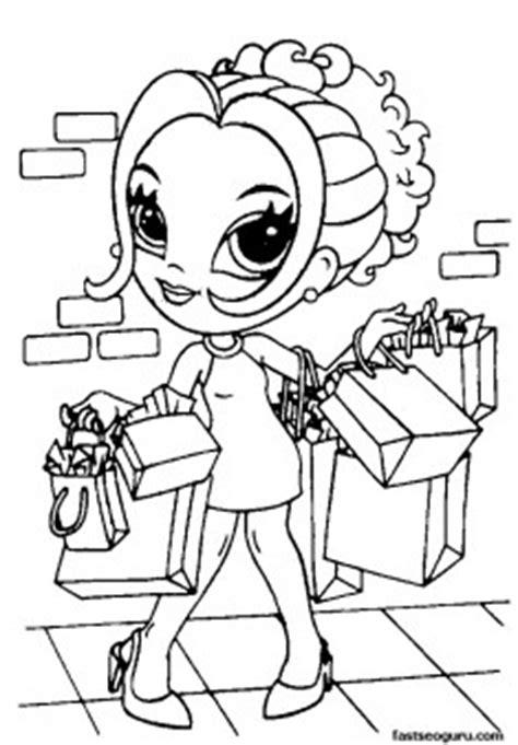 printable  girls lisa frank coloring pages printable