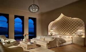 Master bedroom white furniture, moroccan themed master