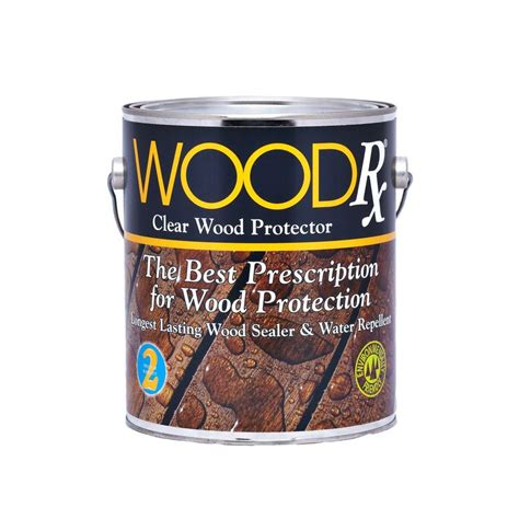 gal wood water repellent clear sealer wet dry sealant