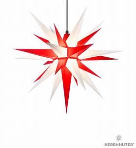 Herrnhuter Stern Beleuchtung : herrnhuter stern a7 weiss rot kunststoff 68 cm von ~ Michelbontemps.com Haus und Dekorationen
