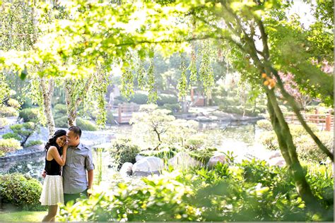 earl burns miller japanese garden engagement photographer
