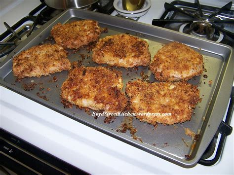 how to cook pork chops in oven french s crunchy onion ring baked pork chops boyd street kitchen