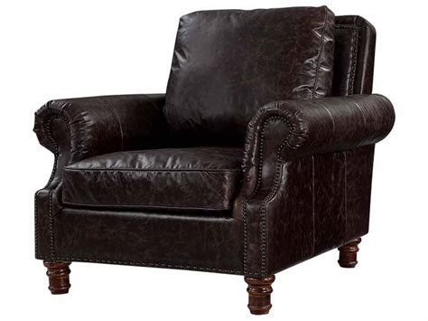 Roll Arm Black Antique Leather Armchair