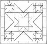 Quilt Block Coloring Crazy Template Pattern sketch template