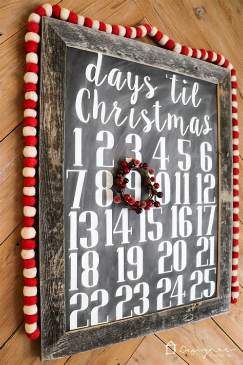 diy christmas countdown calendar christmas decorations