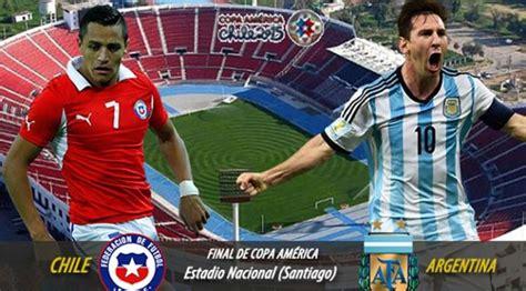 #two red cards and a hella lot of yellows #copa america #chile vs argentina #copa américa 2015. Argentina Vs Chile Live stream Final Copa America 2015