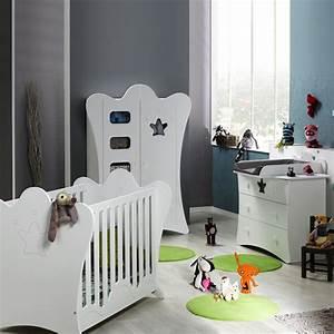 Armoire Bebe Blanche : chambre b b trio king blanche lit commode armoire de loupiot sur allob b ~ Melissatoandfro.com Idées de Décoration