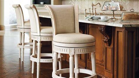 frontgate manchester swivel bar height bar stool