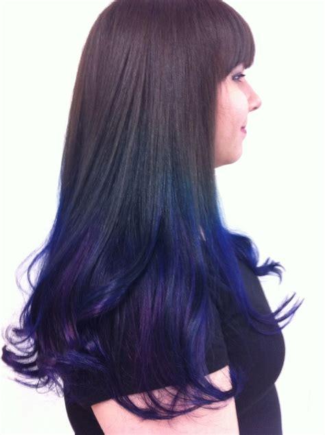pravana hair color blue ombr 233 using pravana vivids color huurrrr