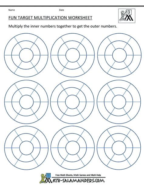 fun multiplication worksheets    images