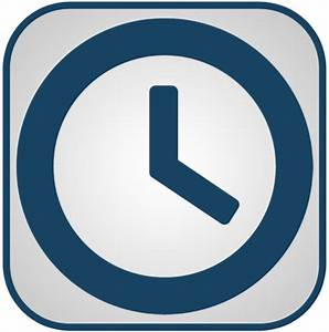 Blue And White Clock Icon, PNG ClipArt Image | IconBug.com