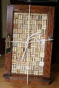 196 best cabinet door crafts images on pinterest cabinet With what kind of paint to use on kitchen cabinets for wine cork wall art