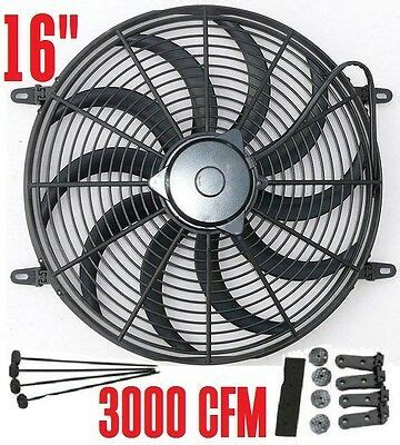 Electric Fan Curved Blade Radiator Cooling