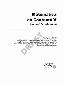 Matematica En Contexto V