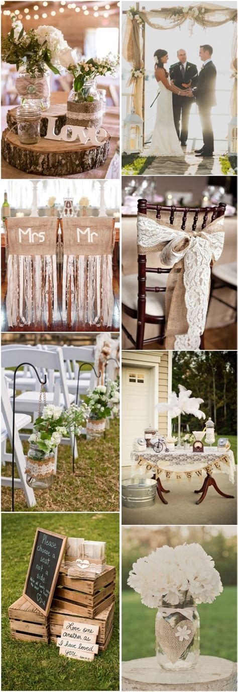 45 Chic Rustic Burlap & Lace Wedding Ideas And Inspiration