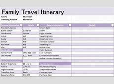 30+ Itinerary Templates Travel, Vacation, Trip, Flight