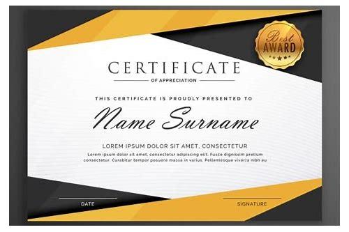 baixar formato de certificado para projetos