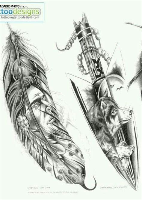 indian feather wolf tattoo    wolf howling